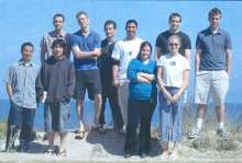 group photo of the 2004 interns