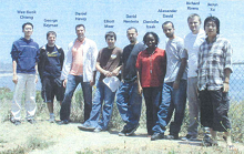 group photo of the 2005 interns